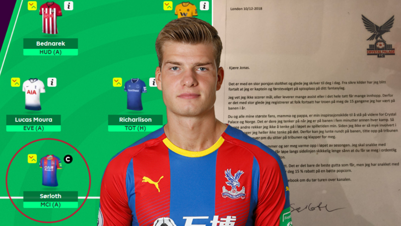 Crystal Palace Player Sends Emotional Letter To Fantasy Football Player Who Captained Him