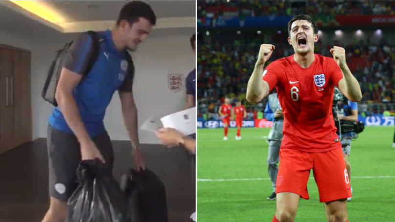 Harry Maguire Was Told Off By His Mum After Arriving At England Training Session With Bin Bag