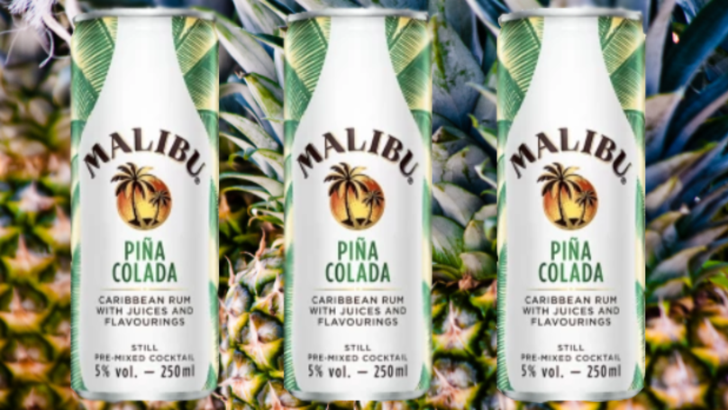 These Malibu Piña Colada Cans Sound Like A Sip Of Summer