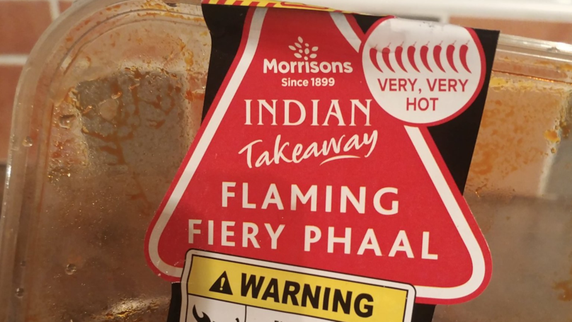 Man Eats Morrisons 'Flaming Fiery Phaal' Curry, Really Regrets Decision