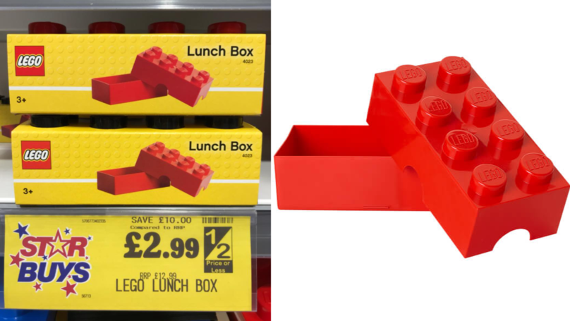 Home Bargains Is Selling Lego Lunch Boxes For £2.99
