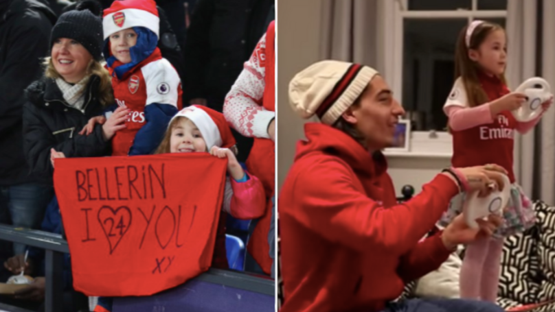 Hector Bellerin Visits The Girl Who Made A Banner For Him And It's Brilliant