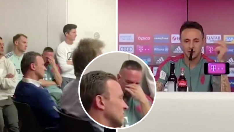 Franck Ribery In Tears At Rafinha's Farewell Press Conference