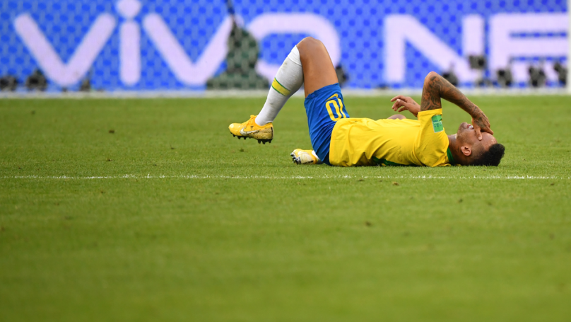 Neymar Has Spent A Total Of 14 Minutes On The Floor At The World Cup
