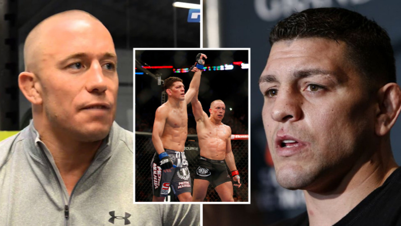 George St-Pierre Responds To Nate Diaz Call Out To Fight Nick Diaz