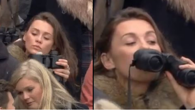 Racing Fan Goes Viral After Taking A Drink From Secret Binocular Flask