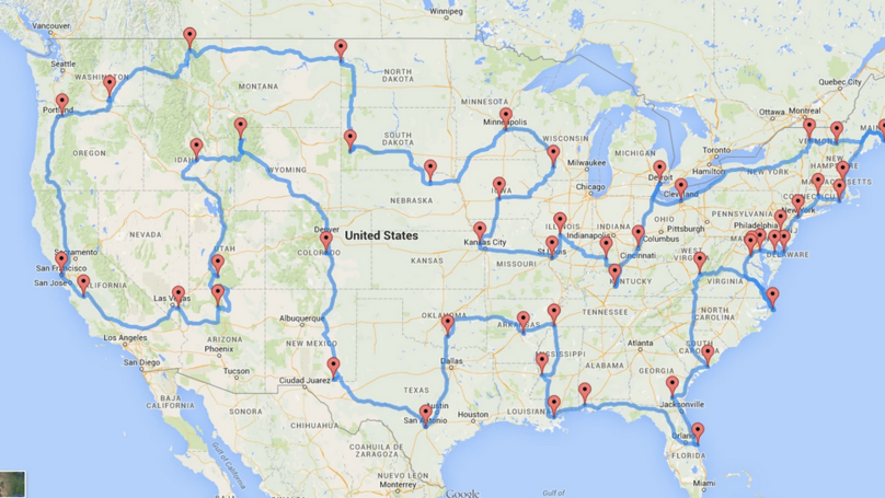 Scientist Uses Algorithms To Plan Ultimate USA Road Trip