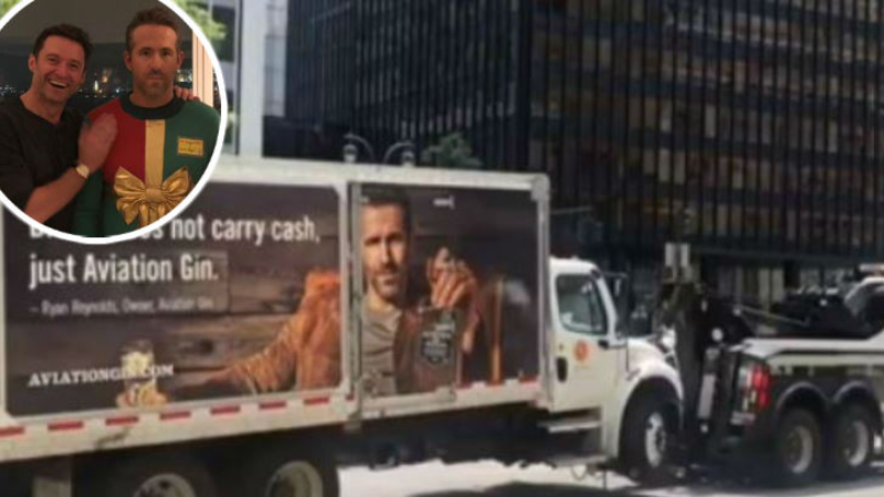 Hugh Jackman Mocks Ryan Reynolds As Company Truck Gets Towed