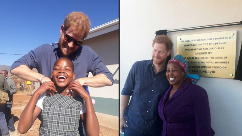 Prince Harry Returns To Lesotho To Open New Children's Centre
