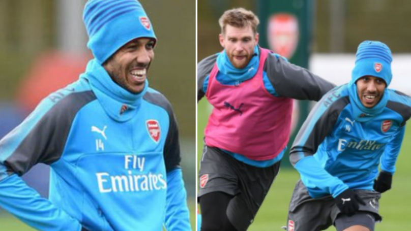 Everyone Is Saying The Same Hilarious Thing About Mertesacker And Aubameyang