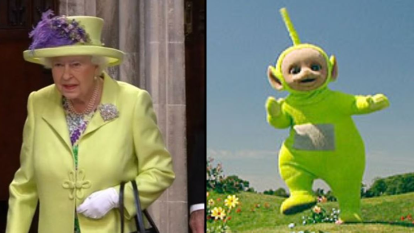 People Reckon The Queen Looked Like A Teletubby At The Royal Wedding