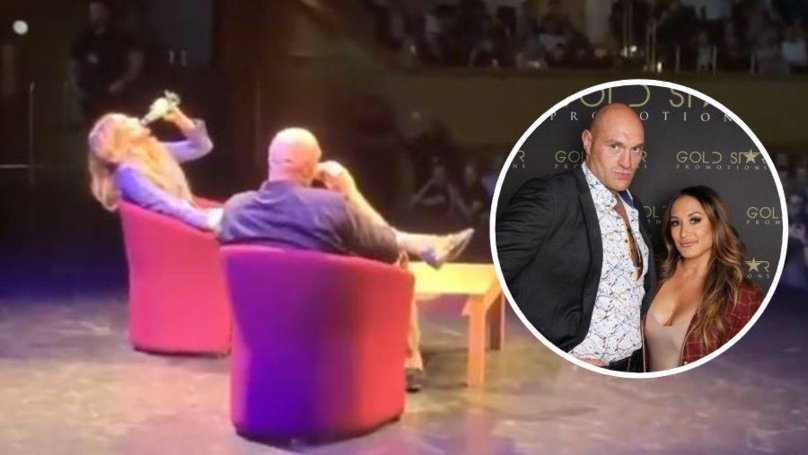 Tyson Fury Hilariously Made Presenter Down A Beer In Front Of 1,000 People Ahead Of Interview
