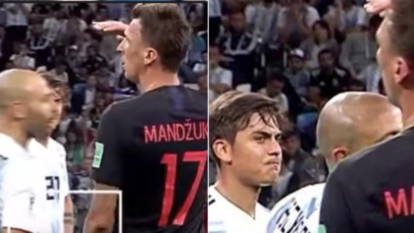 Mario Mandžukić Roasts Javier Mascherano During Game, Paulo Dybala's Reaction Is Priceless