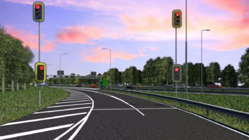 Motorway Installed With What It's Designed To Avoid - Traffic Lights