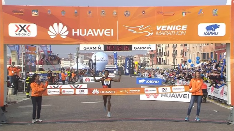 Unknown Runner Eyob Faniel Wins Venice Marathon After Favourite Taken Wrong Way By Guide Motorcycle