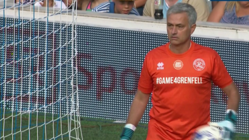 All The Reactions To Jose Mourinho's Performance In Goal During 'Game4Grenfell'