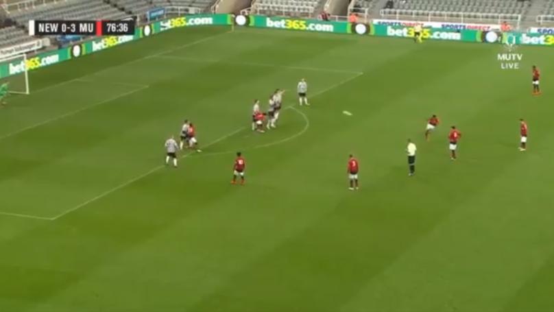 Manchester United Hot-Shot Mason Greenwood Scores A Stunning 30-Yard Free-Kick