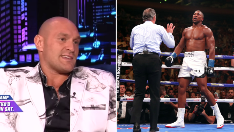 "Tyson Fury Brands Anthony Joshua A ""Disgrace"" In Savage Rant"