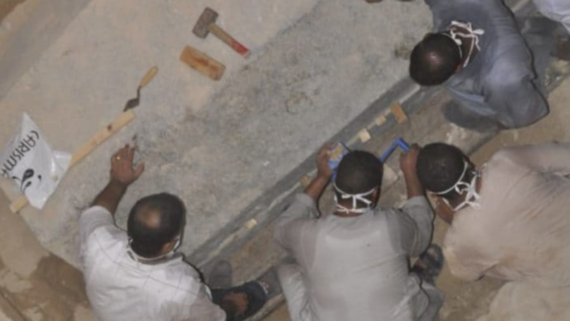 The Massive Black Sarcophagus Found In Egypt Has Now Been Opened