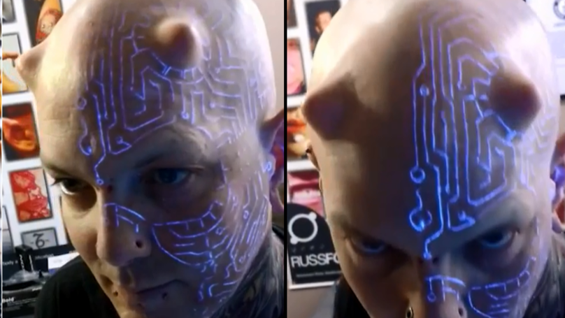 'Transhumanist' Has Over 100 Body Modifications