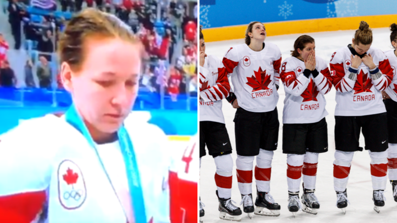 Canadian Ice Hockey Player Criticised After Removing Silver Medal