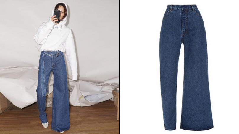 Asymmetrical Jeans Are A Thing If You Can't Decide Between Skinny And Flared
