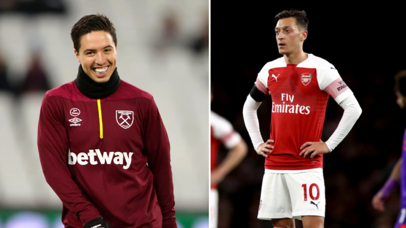 Samir Nasri Has The Same Amount Of Assists As Mesut Ozil This Season