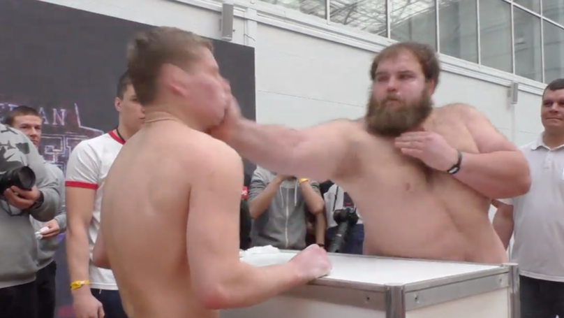 This Slapping Contest In Russia Looks Absolutely Outrageous