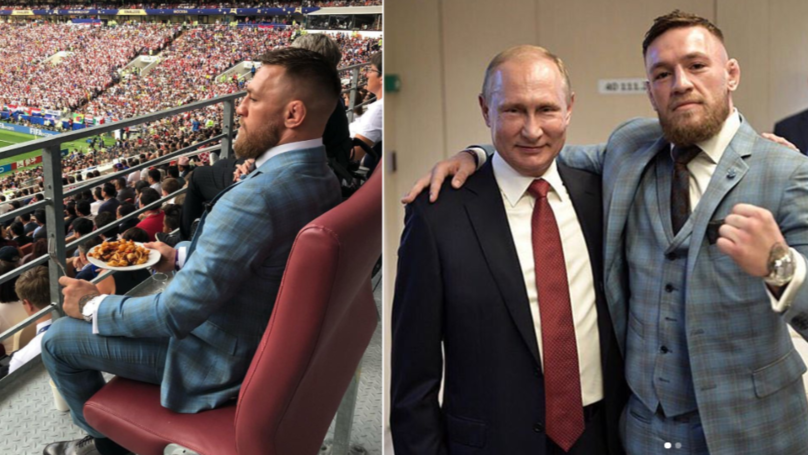Conor McGregor's Post About Vladimir Putin After World Cup Final Causes Controversy