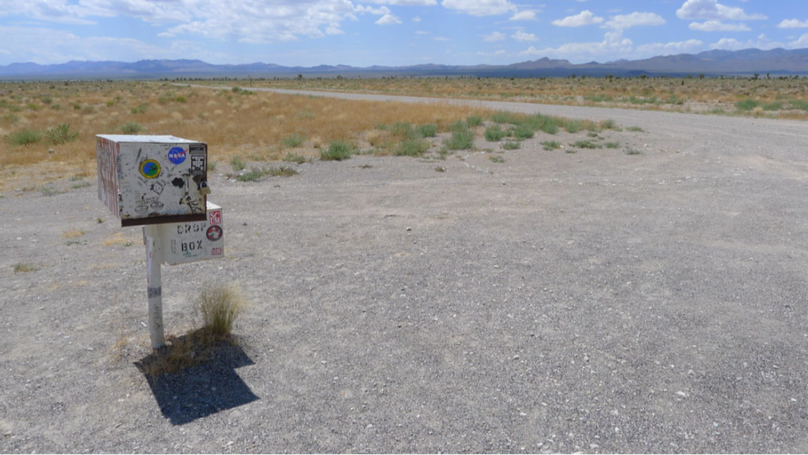 ​There's A Mysterious Mailbox Near Area 51 In The Nevada Desert
