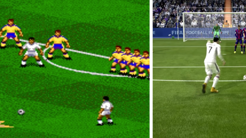The Awesome Evolution Of Free-Kicks From FIFA 94 To FIFA 19