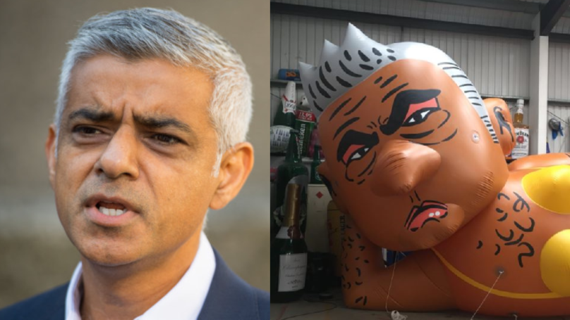 Sadiq Khan Blimp To Be Flown Over London In Protest Against Donald Trump Balloon