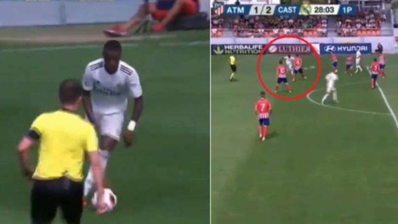 Watch: Vinicius Jr Scores Stunning Goal Against Atletico Madrid's B Team