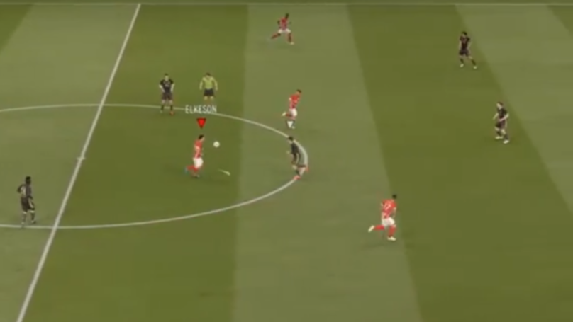 FIFA YouTuber Scores Halfway Line Goal By Doing 12 Kick-Ups Past Opponent