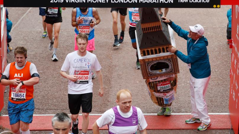 Runner Dressed As Big Ben Gets Stuck During London Marathon