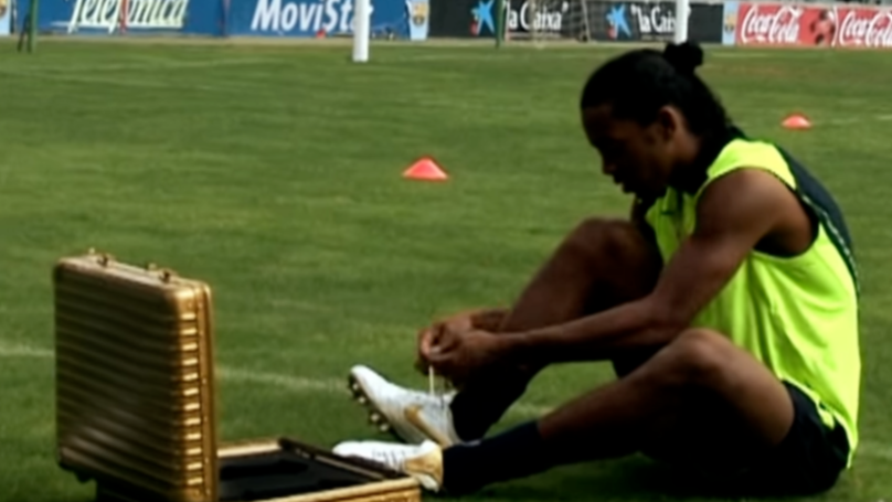 The Time Ronaldinho Broke The Internet With Insane Crossbar Challenge