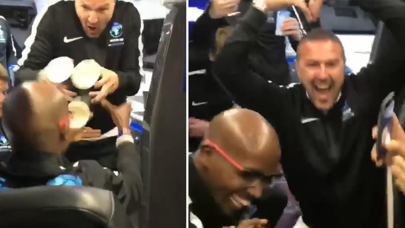 Paddy McGuinness Trolls Sir Mo Farah Leaving The Soccer Aid Team In Hysterics