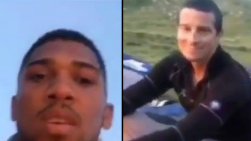 Anthony Joshua Is Camping Out With Bear Grylls