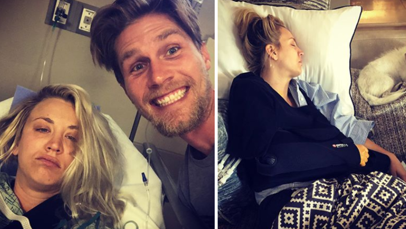Newlywed Kaley Cuoco Has Spent Her Honeymoon In Hospital