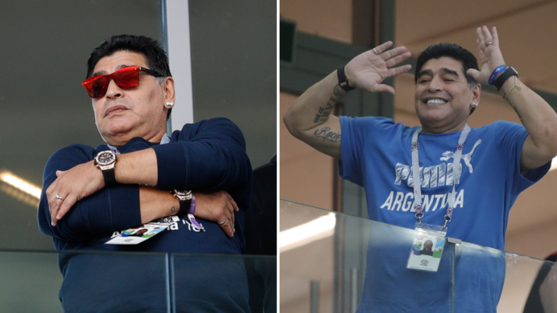 Why Diego Maradona Has Been Wearing Two Watches At The World Cup