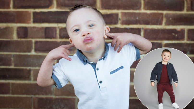 Little Boy With Down's Syndrome Nicknamed 'Smiley Riley' Has Landed Modelling Job