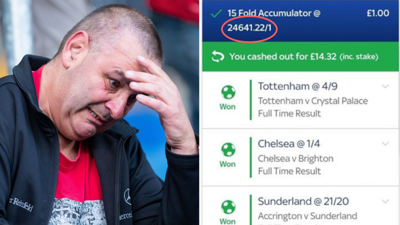 Punter Cashes Out Early For £14 And Misses Out On An Incredible £24,000