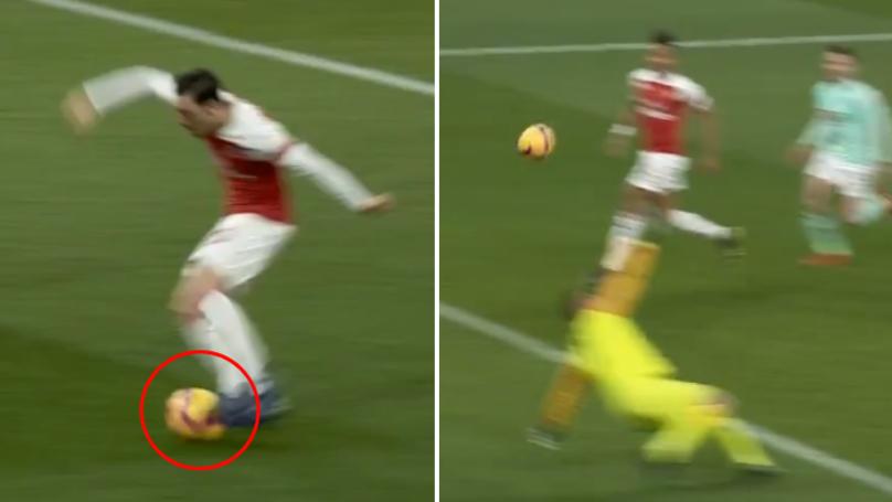 Mesut Ozil's Unique 'Bounce' Shooting Technique Is Something Else