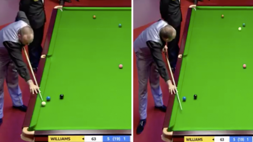 Mark Williams Knocks In No Look Pot In World Championships