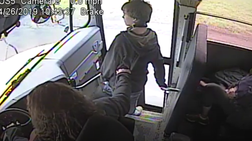 Hero Bus Driver Stops Pupil From Getting Hit By Car