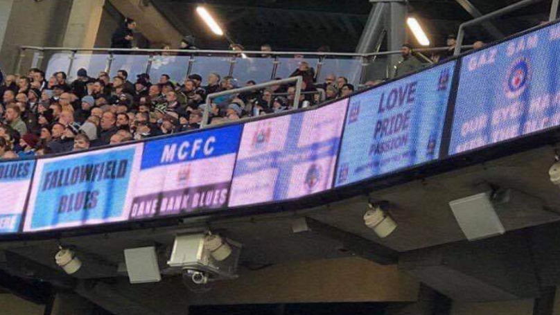 Fans Do Not Approve Of Manchester City's Digital Flags At Etihad Stadium