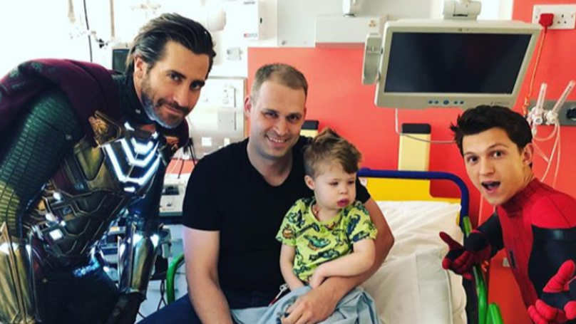 Jake Gyllenhaal And Tom Holland Visit Great Ormond Street Hospital