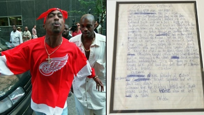 Original Handwritten Tupac Lyric Sheet Is Available For An Insane Amount Of Money