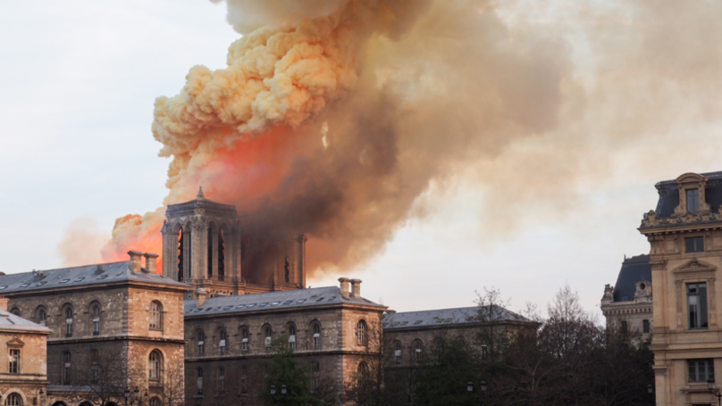 French President Emmanuel Macron Vows To Rebuild Notre-Dame Cathedral In Five Years