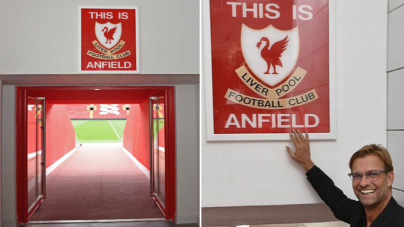 Liverpool Players Will Now Be Allowed To Touch The 'This Is Anfield' Sign